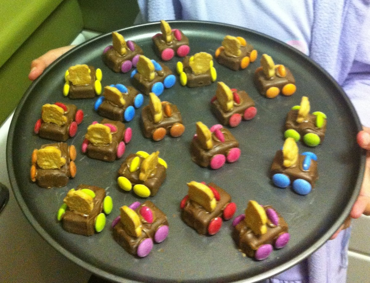 Tiny Teddy Cars - Easy, Fun Treats Kids Can Make by Themselves (Almost!)