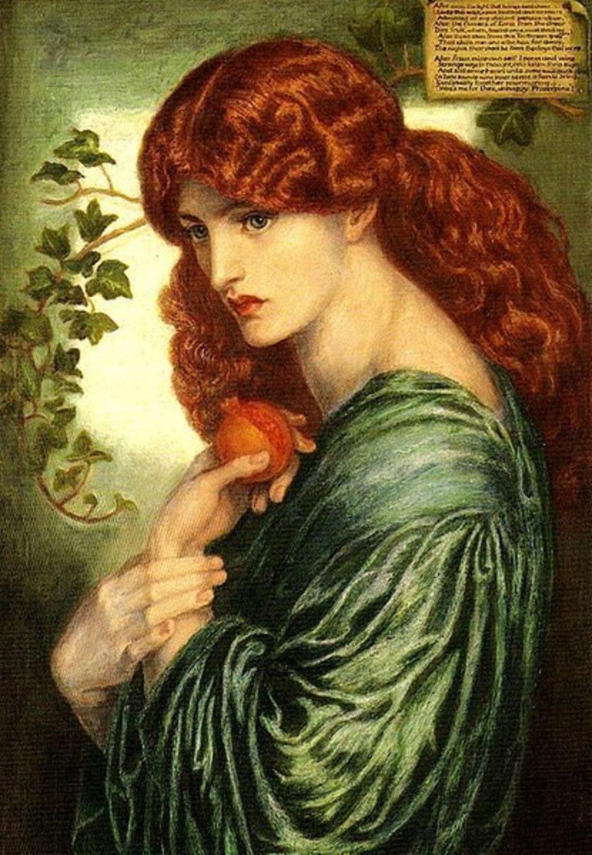 Prosperina (1870)  Dante Gabriel Rossetti (1828–1882) PD-art-100