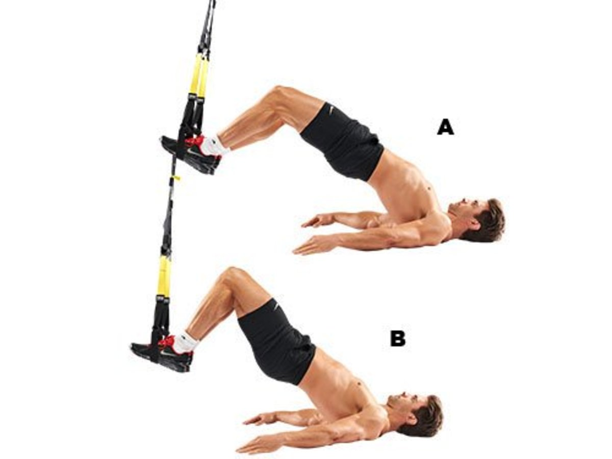A demonstration of ham curl exercise using the TRX system.