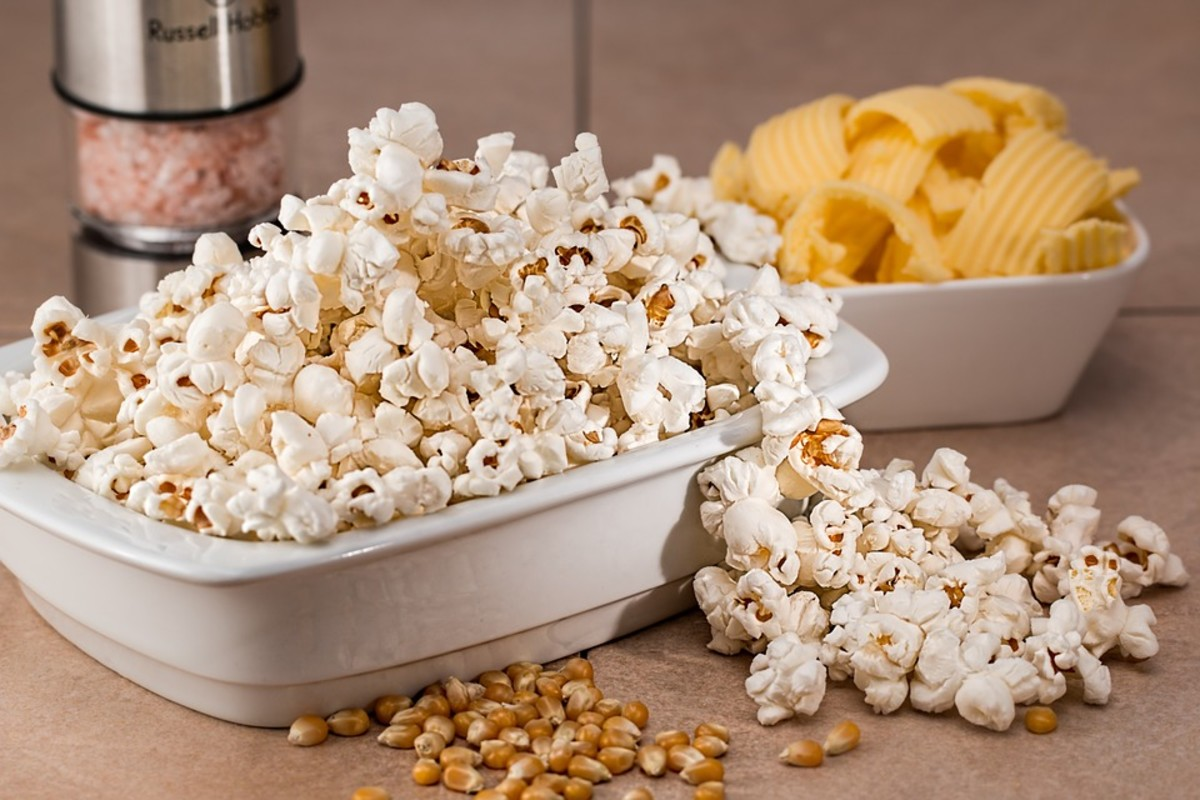 A good example of snowflake popcorn