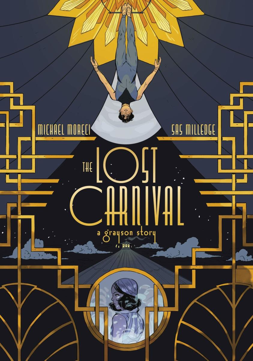 """""""Dick Grayson: The Lost Carnival"""" graphic novel cover."""