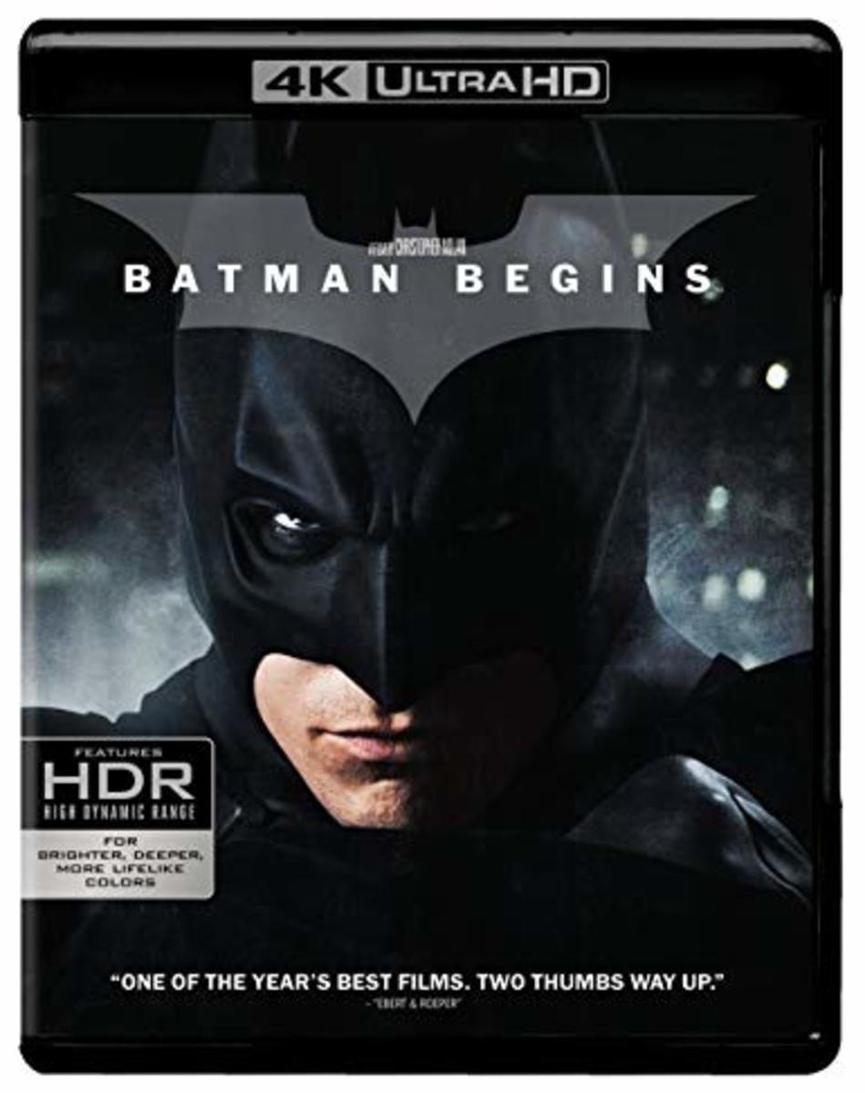 Batman Begins Ultra HD blu-Ray cover.