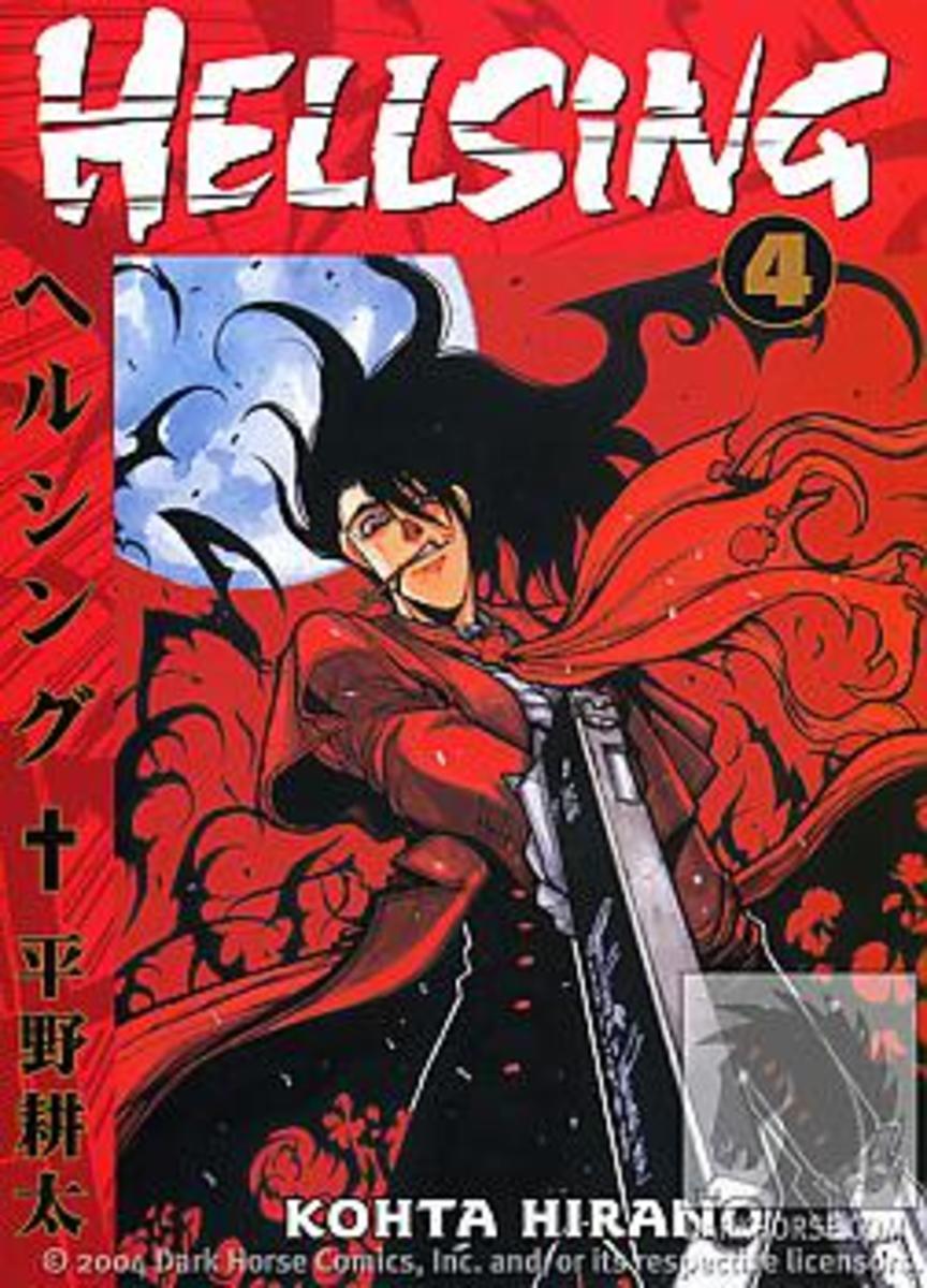 """Hellsing,"" Vol. 4, Dark Horse manga cover."