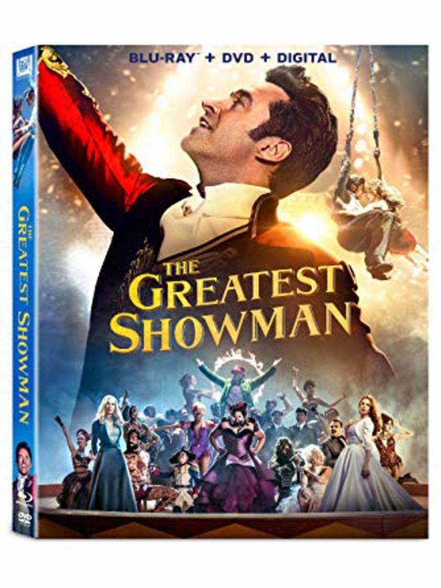 """The Greatest Showman"" blu-ray cover."