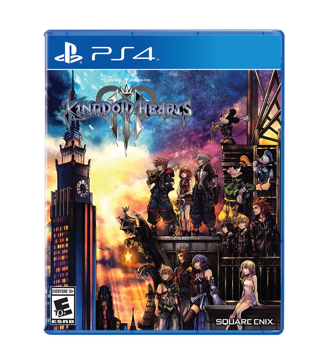 Kingdom Hearts III PlayStation 4 cover.