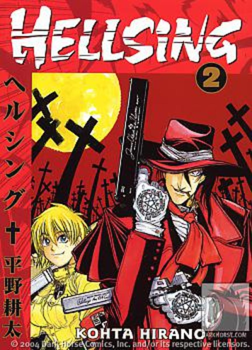 Hellsing volume 2 manga cover.