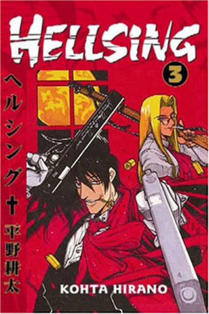 """""""Hellsing"""" manga, Volume 3 cover."""