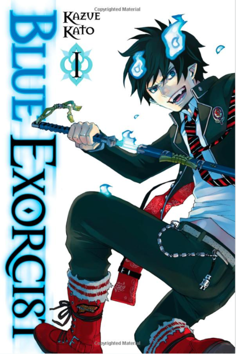 Blue Exorcist Volume 1 manga cover.