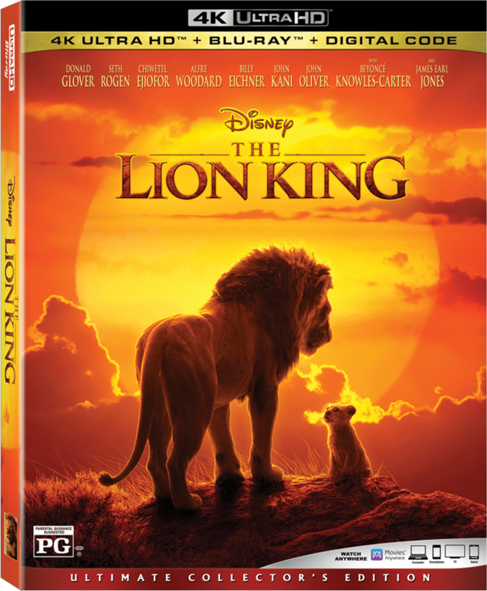 The Lion King (2019) 4K blu-ray cover.