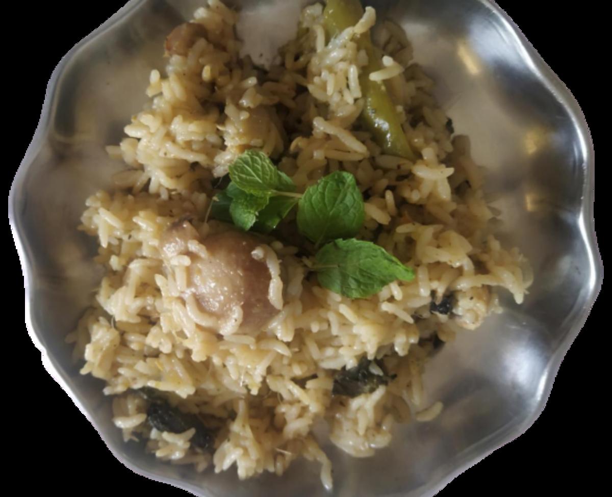 Homestyle Mushroom Biriyani