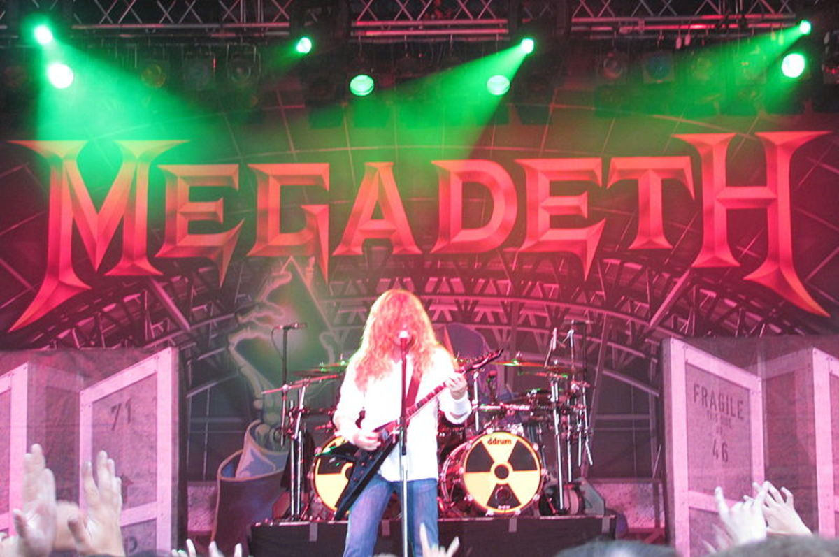 Dave Mustaine, the driving force behind Megadeth and one of the most influential guitar players of the Big Four.