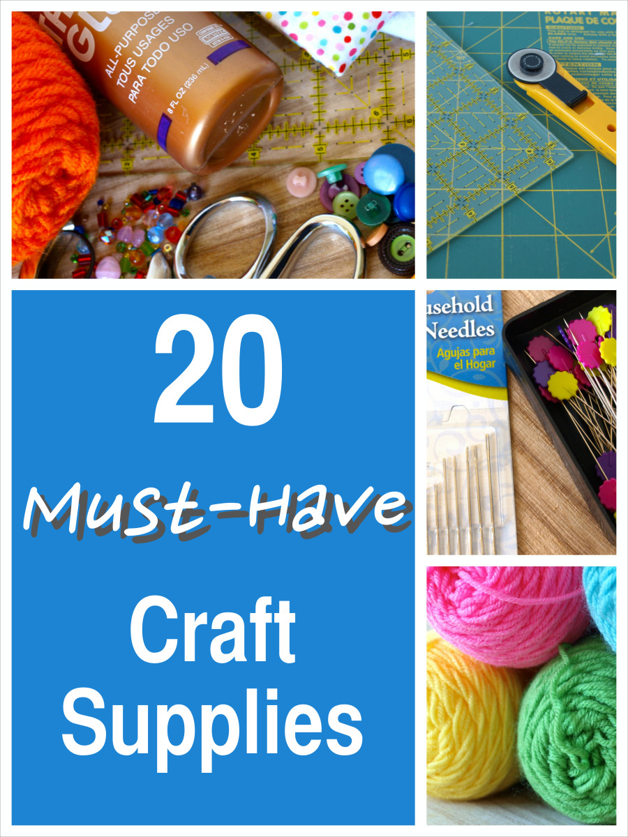 Beginners and expert crafters will want to have these 20 items in their craft closet.