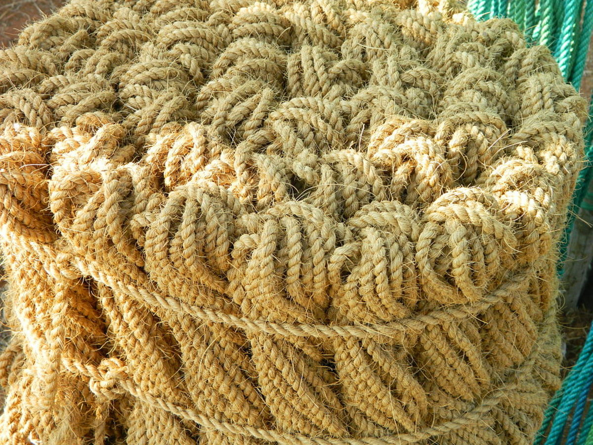 Ropes made from coconut husk.