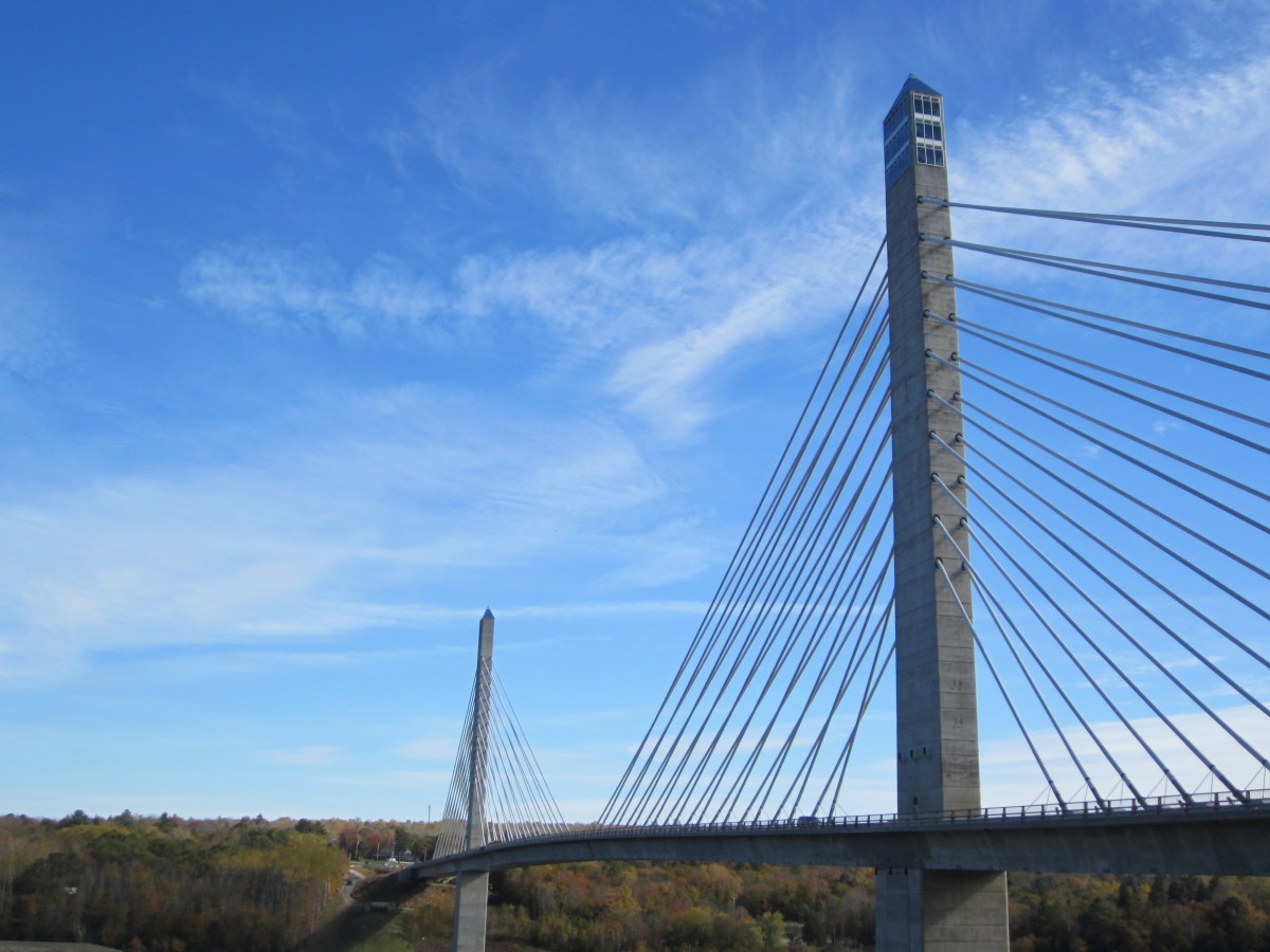 The Penobscot Narrows Bridge and Observatory, a Vital Link in Mid-Coast Maine