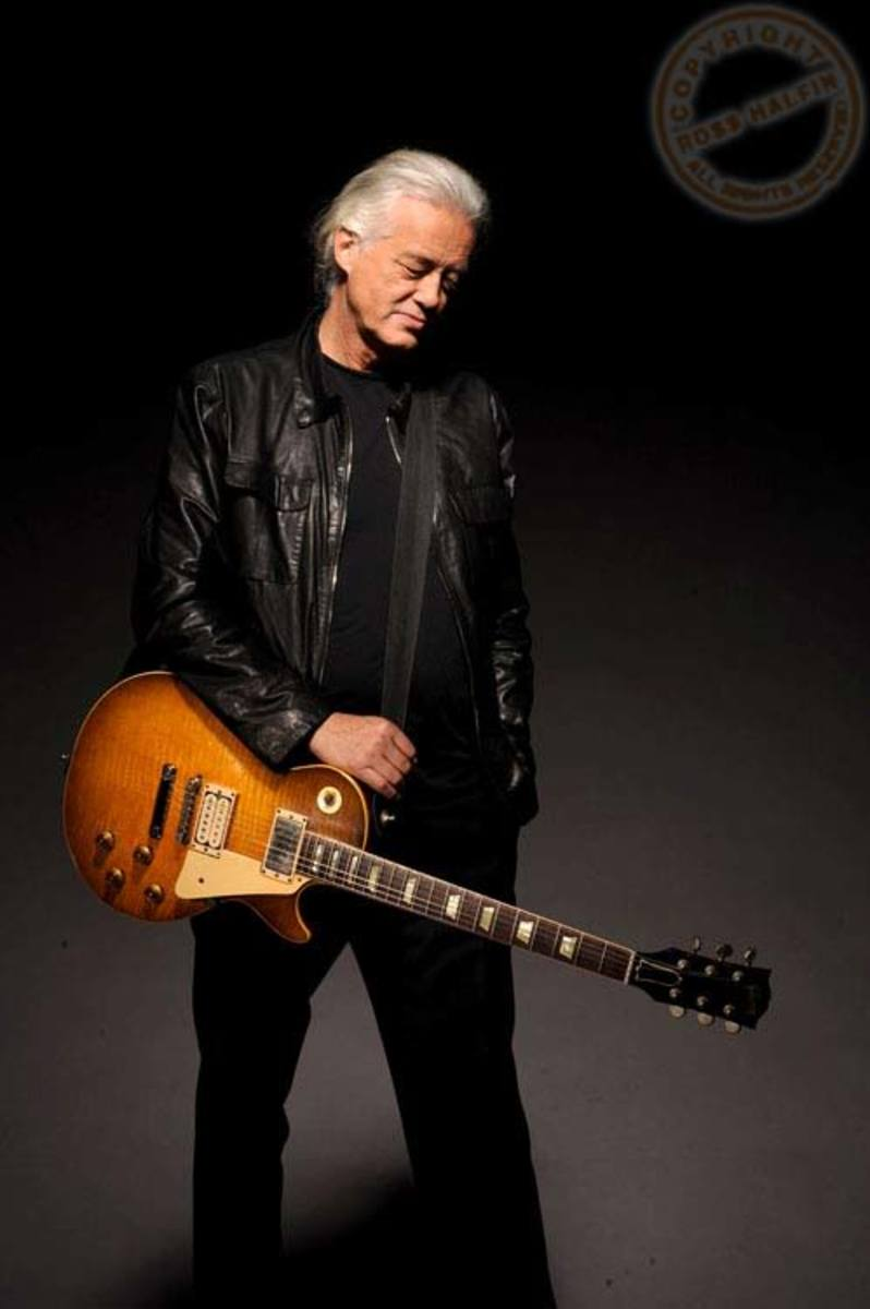 Jimmy Page And His Gibson Signature Les Paul Guitar