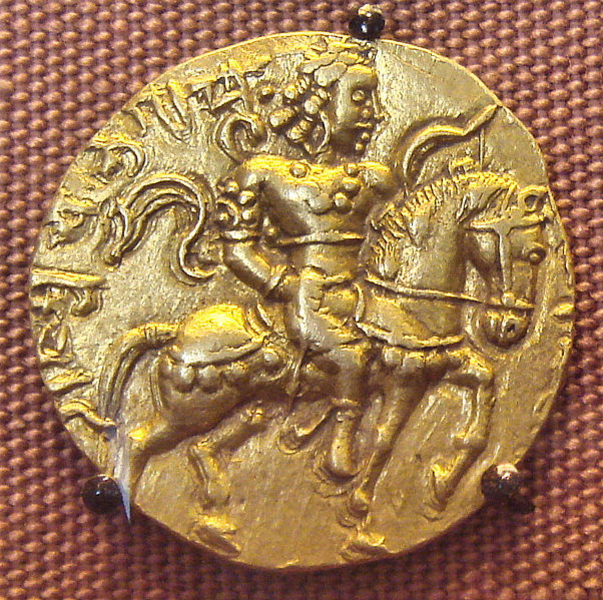 Gold Coin of the Gupta king Chandragupta II