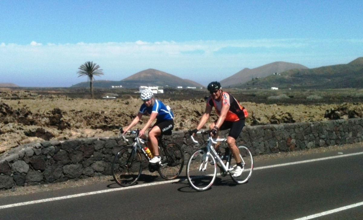 The volcanic island of Lanzarote offers some fantastic training roads for cyclists