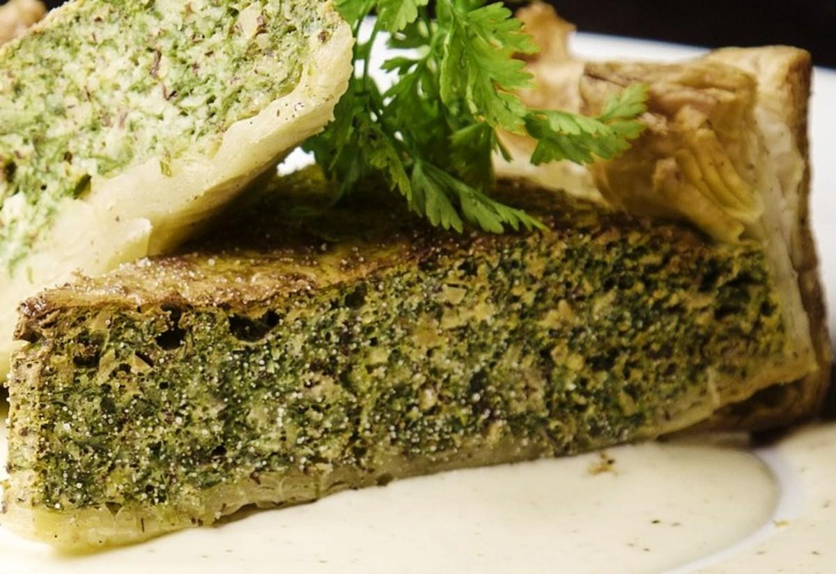 Egg-free broccoli quiche