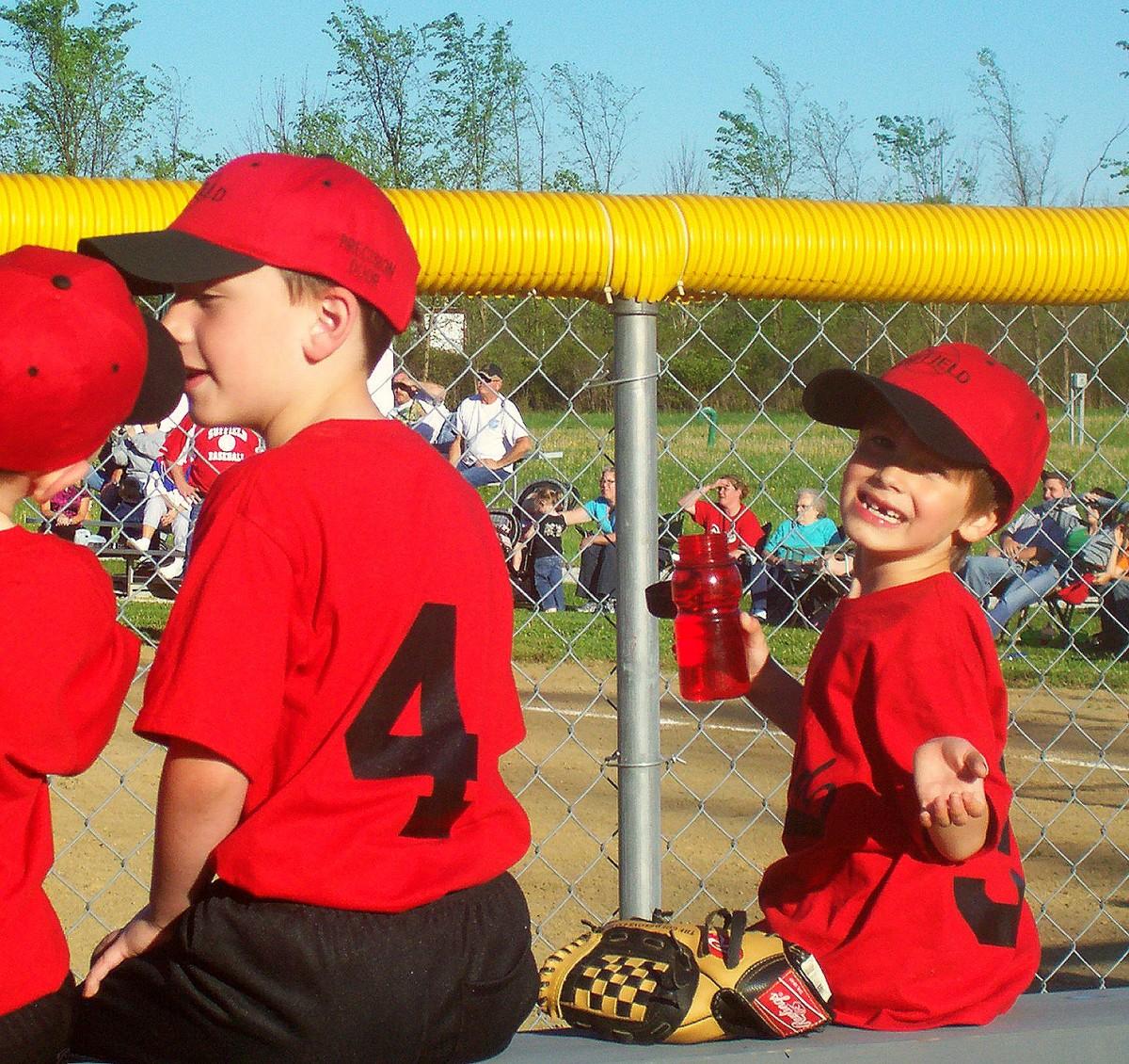 Youth Little League Baseball Coach Sweatshirt White