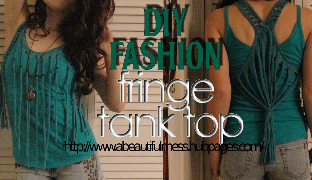 DIY Fashion: Fringe Tank Top