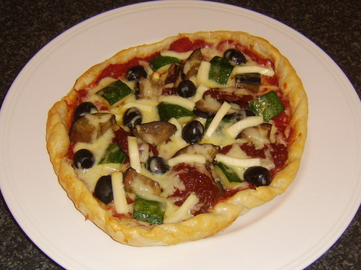 Mediterranean Vegetables Puff Pastry Pizza Recipe