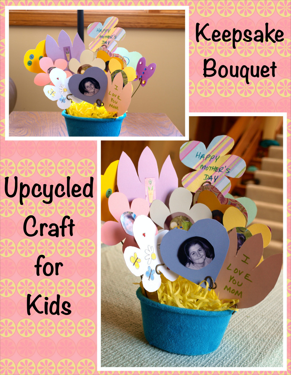 Upcycled Crafts for Kids — Keepsake Bouquet