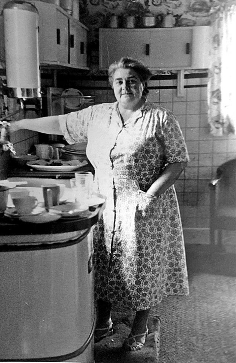 My grandma in the 1960s, when she was landlady of a seaside guesthouse.