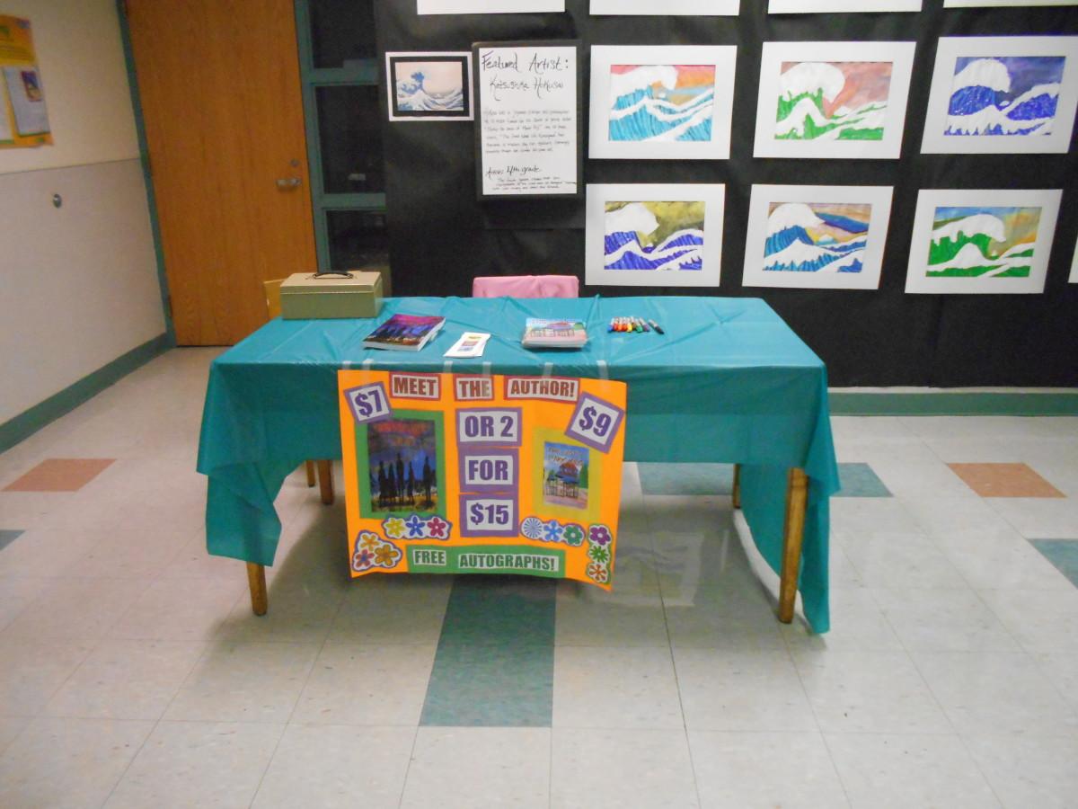 Book fair table.