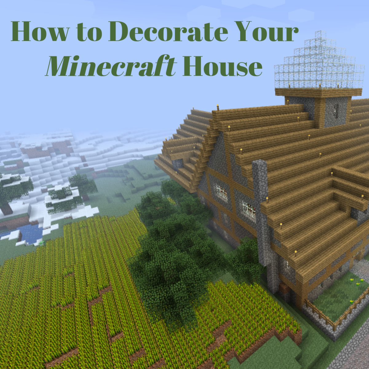 "Decorate your house by recreating basic furniture that isn't included in ""Minecraft."""