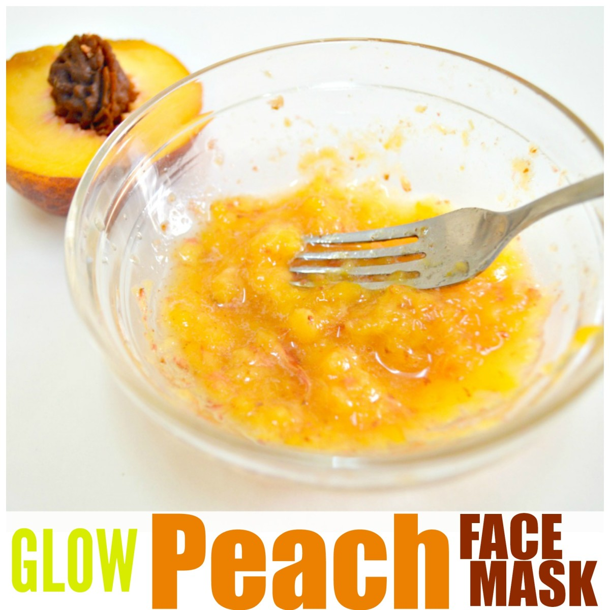 Try out this simple and easy glow peach face mask. Try not to eat it while your at it! It smells so good!