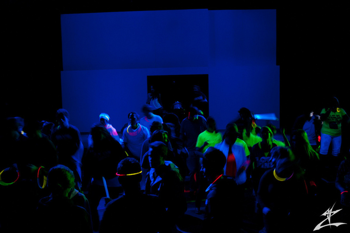 Black-light parties are always fun!