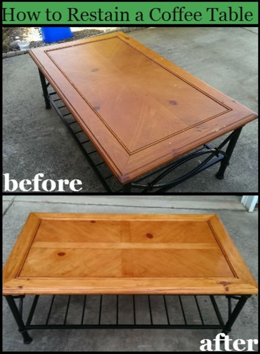 How to Refinish a Table or Coffee Table for a Beginner