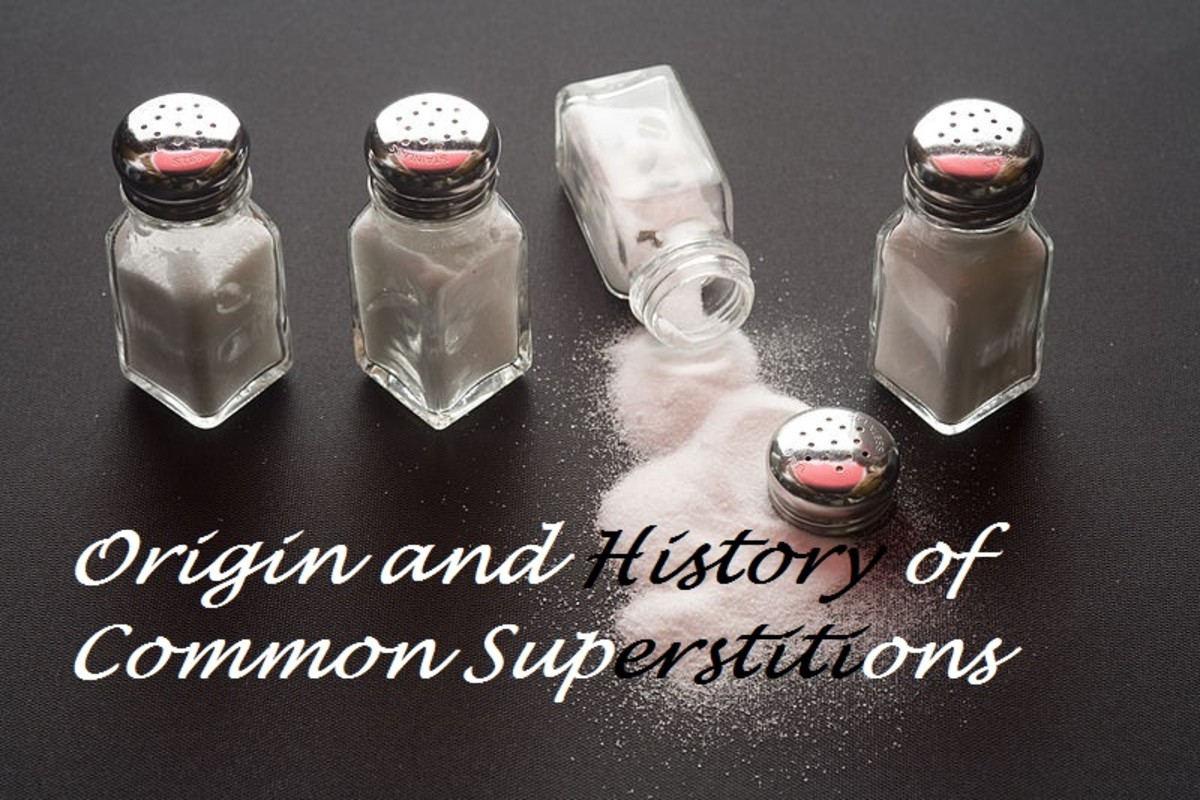 What are the origins of common superstitious practices?