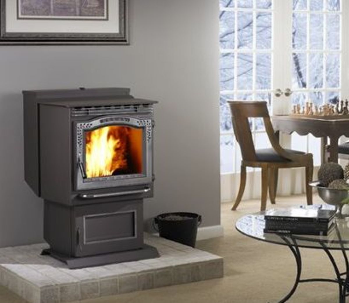 A Harman Stove, the P68 Pellet Stove can easily heat a 2,000+ sq.-ft. home with up to 68,000 BTUs of heat.