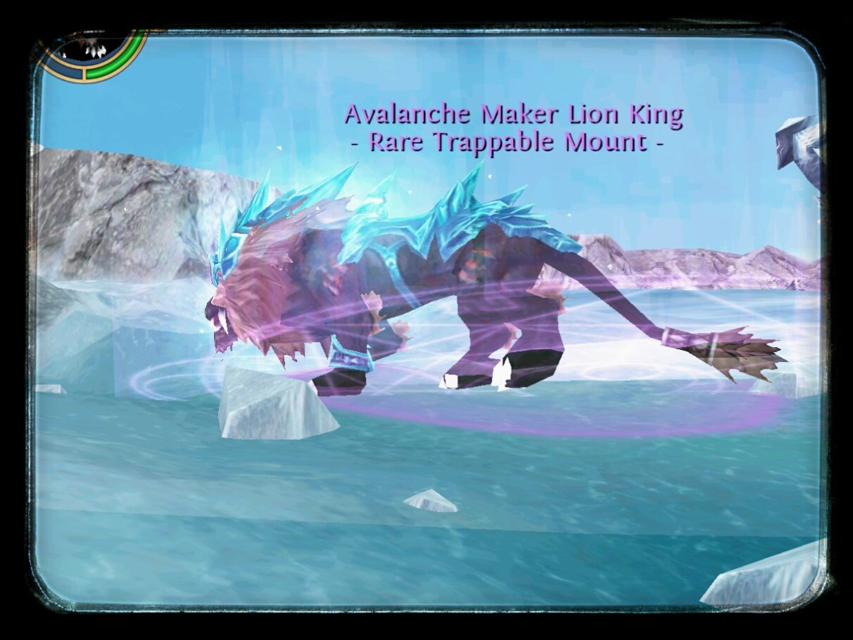 Rare Epic Avalanche Maker lion mount in Ice Field Gullet.