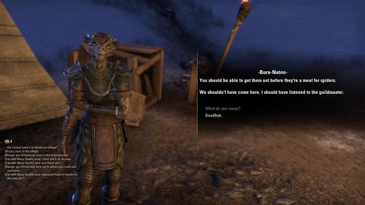 The Elder Scrolls Online Walkthrough - Bleakrock Isle: Dangerous Webs