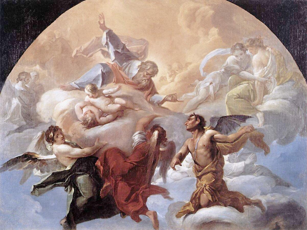Satan before the Lord by Corrado Giaquinto, circa 1750