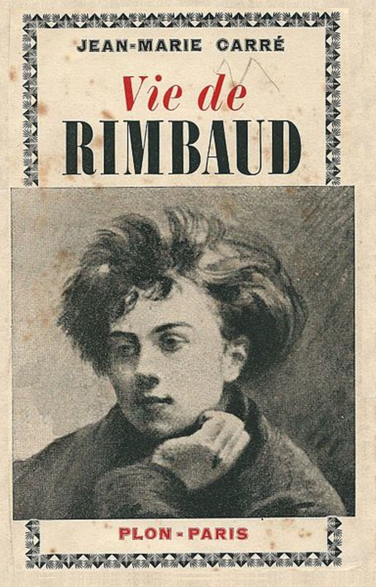 Cover of biography of Rimbaud, 1926 La Vie de Rimbaud by  Jean-Marie Carre