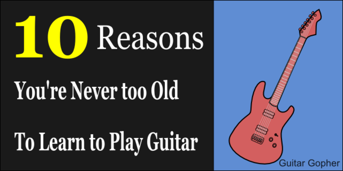 You're never too old to learn to play guitar!