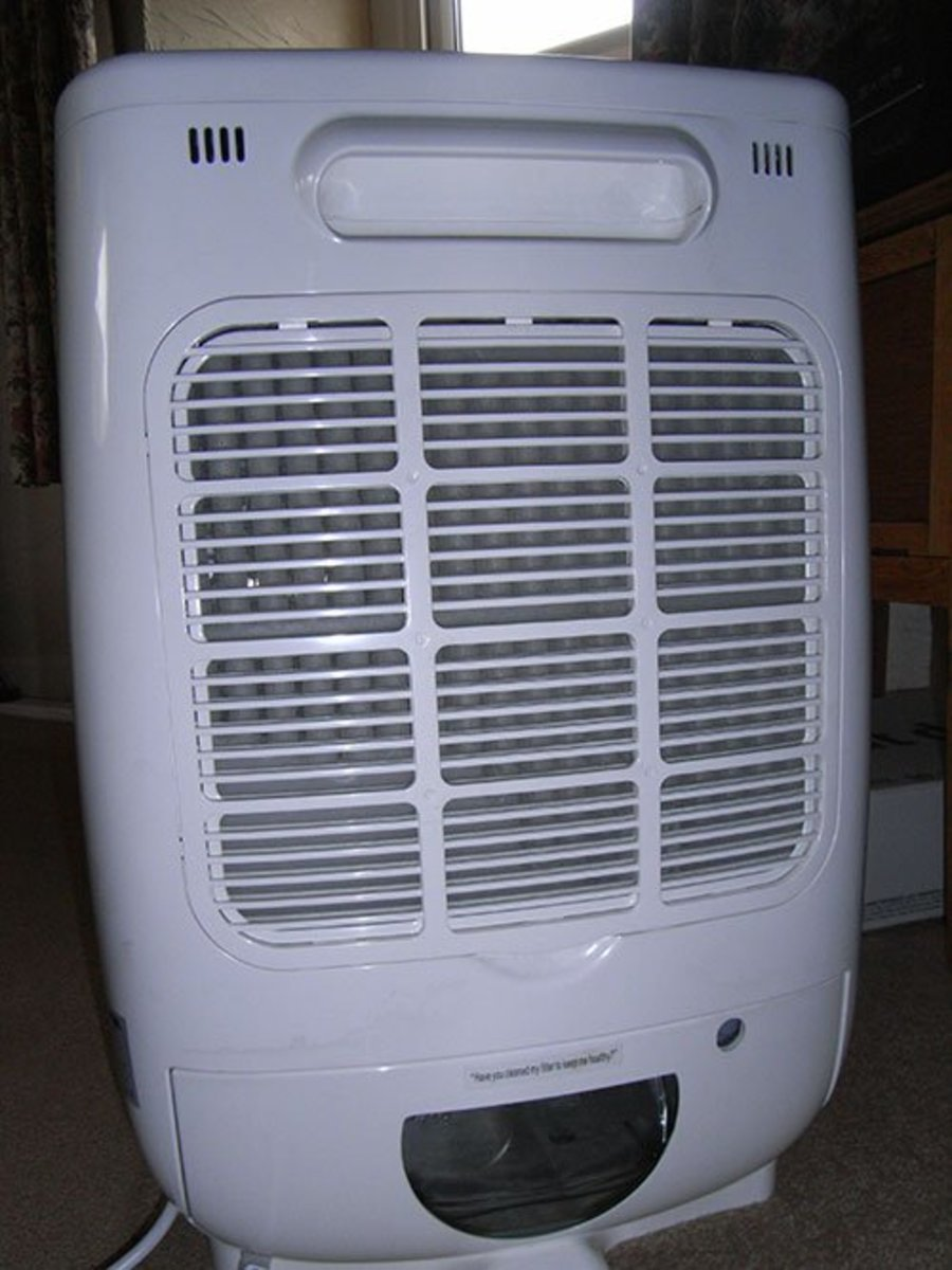 A dessicant dehumidifier not only removes moisture from the air, it also acts as a heater and helps to keep heating costs down.