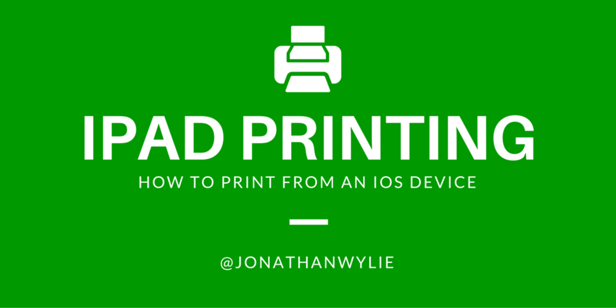 How Do You Print From an iPad? Let Me Count the Ways!