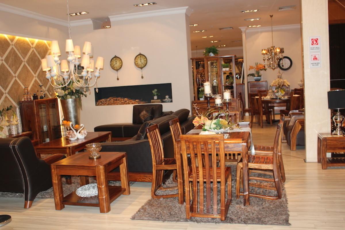 Dining tables and chairs.