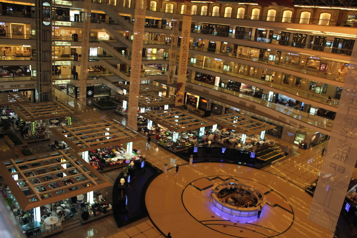 Louvre Furniture Mall for imported furniture in Shunde, China.