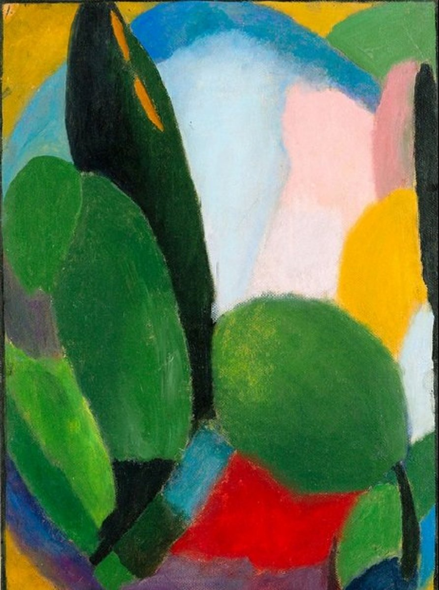 """Variation"" by Alexej von Jawlensky, circa 1916. This is an example of abstract art in which the image itself and the materials used to make it are what matters rather than anything it might seem to represent."