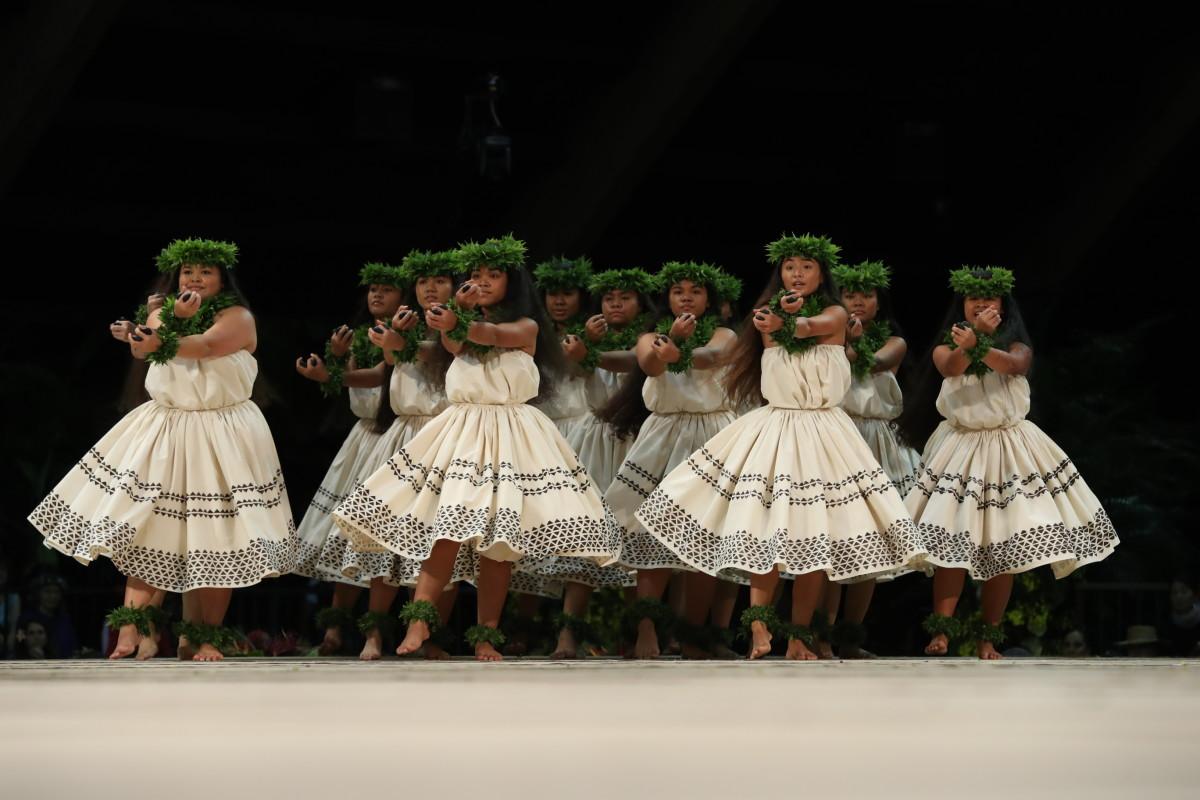 2019: 1ST PLACE WAHINE KAHIKO 1st Place Overall Hula Hālau 'O Kamuela Nā Kumu Hula: Kunewa Mook & Kau'ionālani Kamana'o