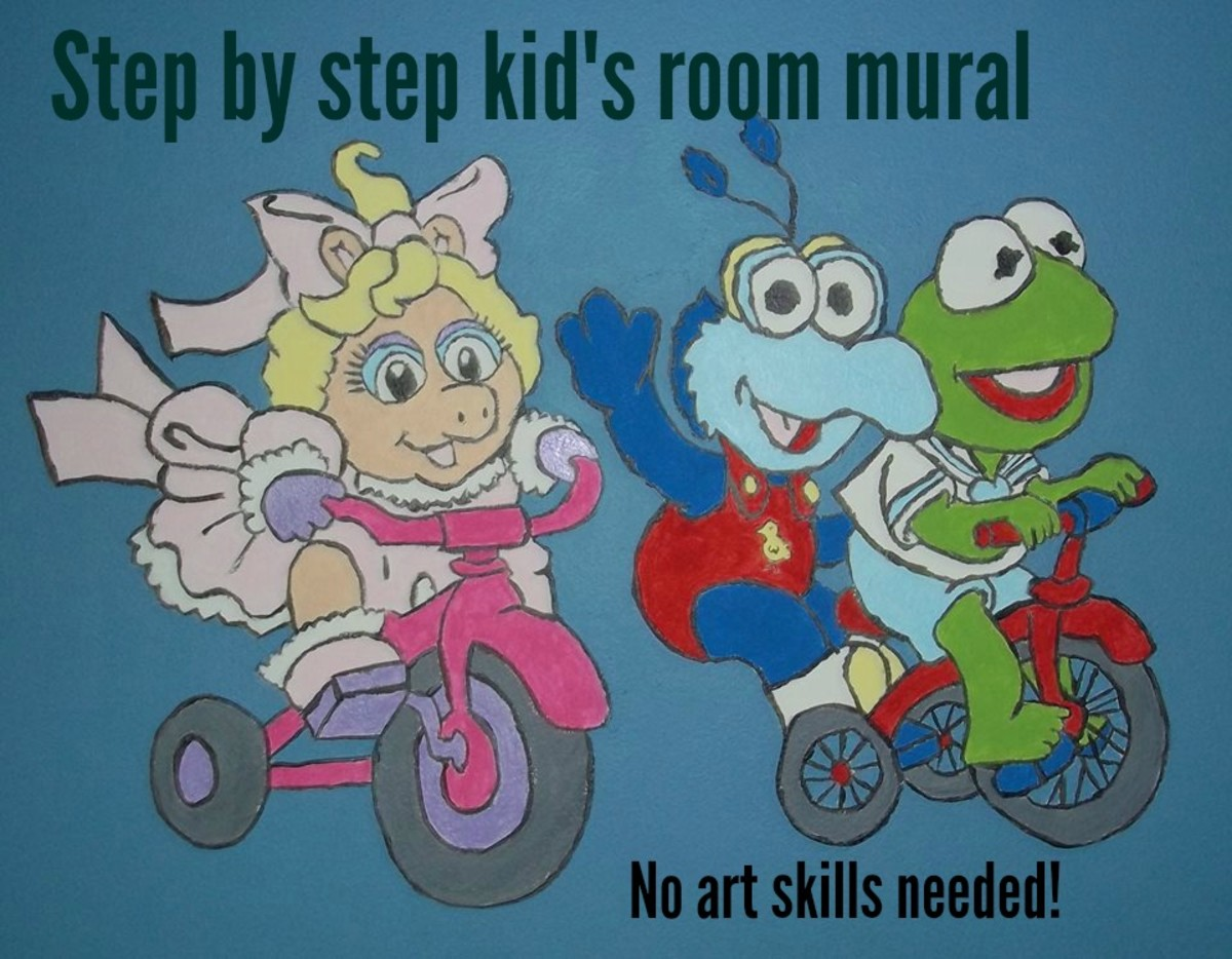 DIY Art Mural for a Child's Room