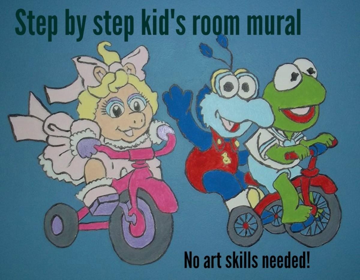 DIY Art Mural for a Child's Room