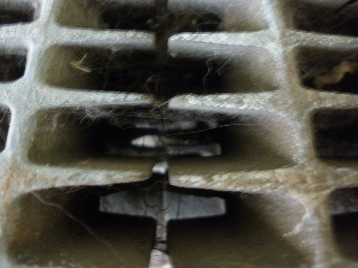 Dust, cobwebs, and debris tend to accumulate in the many spaces in a radiator.