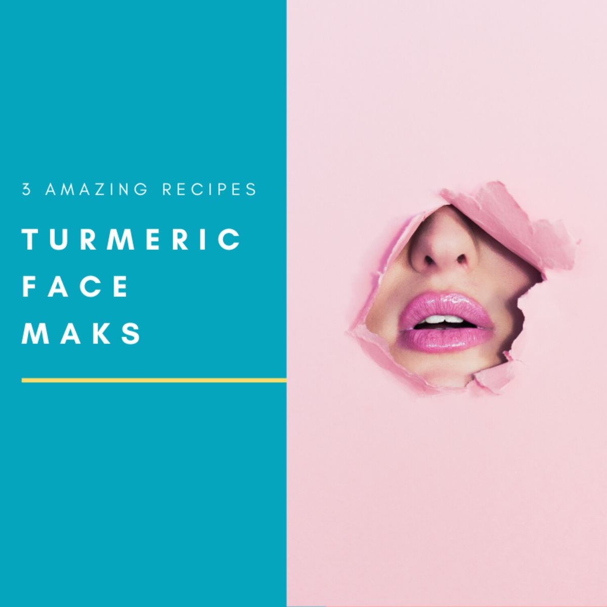 Turmeric is an all-natural skincare ingredient that can be applied topically for glowing skin!