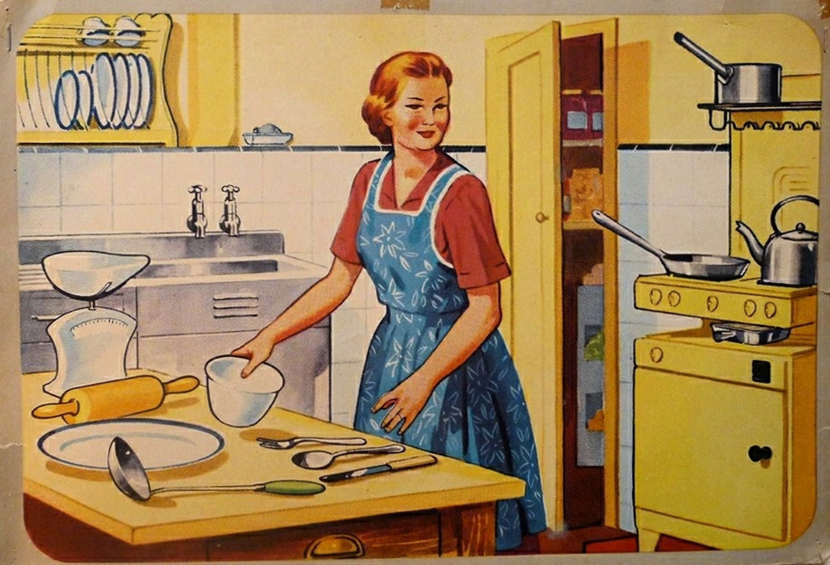 Blast from the past. Cool retro kitchen furniture and appliances.